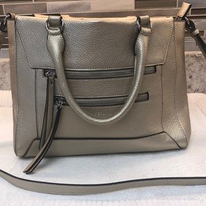 Perlina Leather Handbag Metallic NWOT